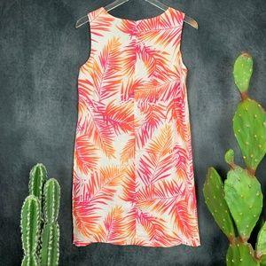 J. Jill Dresses - NEW J. Jill Linen Sunset Palm Frond Dress Size 8P